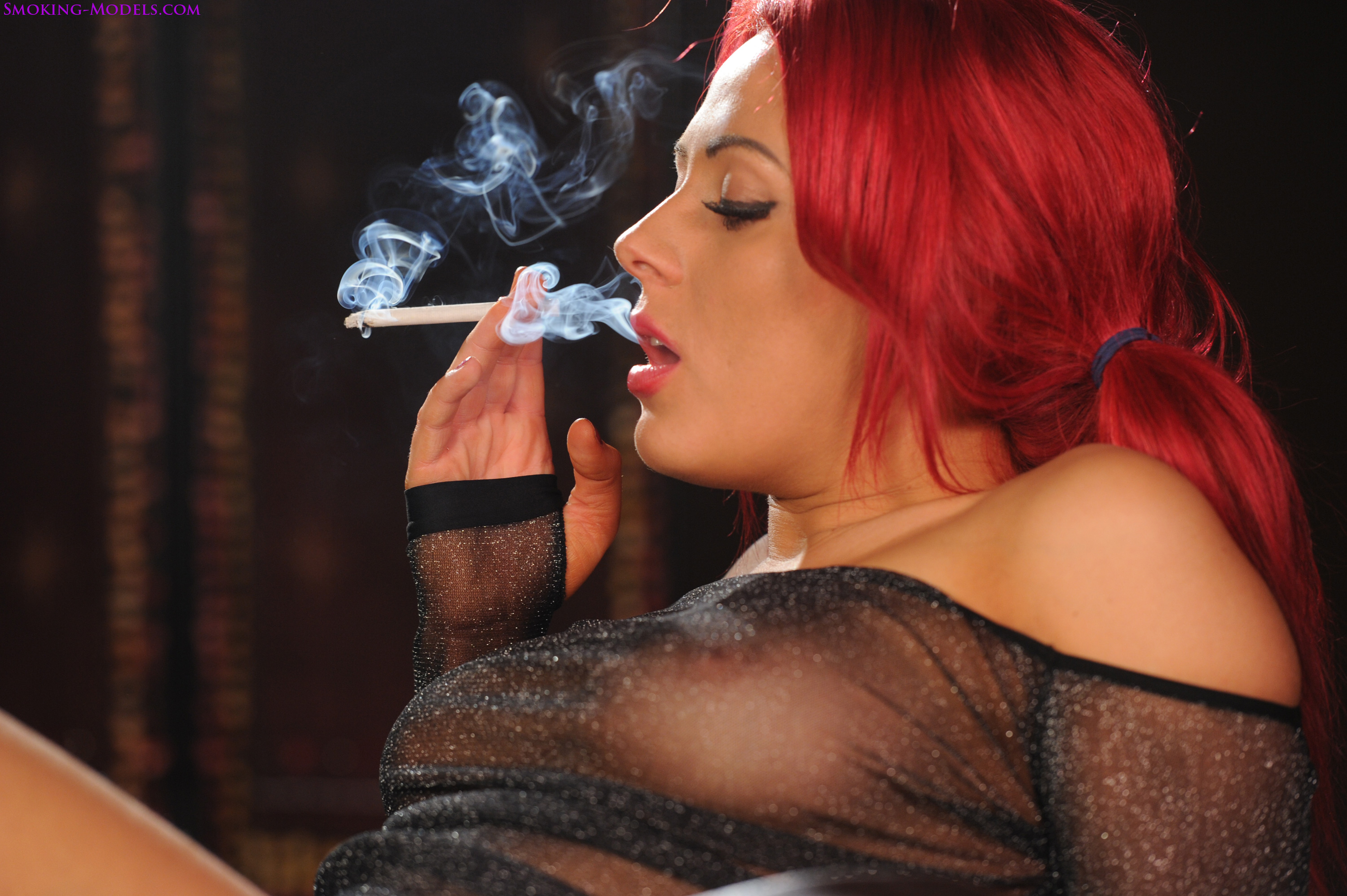 smoking fetish models