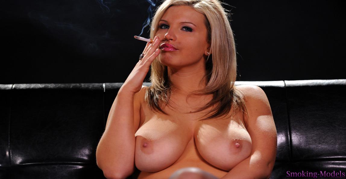 Smoking nude pic #7